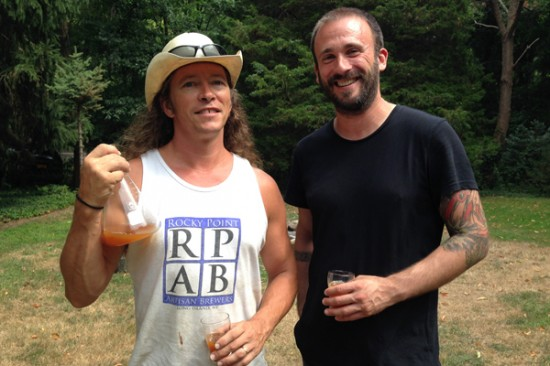 Mike Voigt of Rocky Point of Artisan Brewers and Mike Mare of Secret Engine